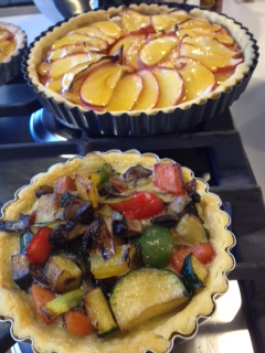 vegetable and apple tarts.JPG